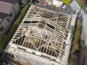 Hordens Lane Roof Drone
